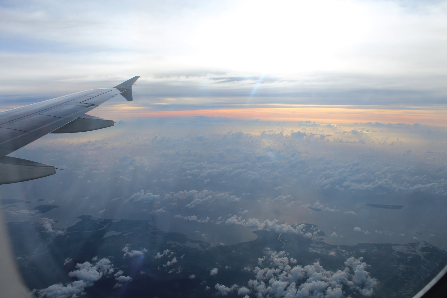 Wingtip, cloudtops over Luzon, Philippines