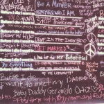 "Detail, ""Before I die..."" public art, Pilsen, Chicago"