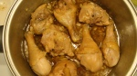 Chicken's browned and ready for soy, vinegar