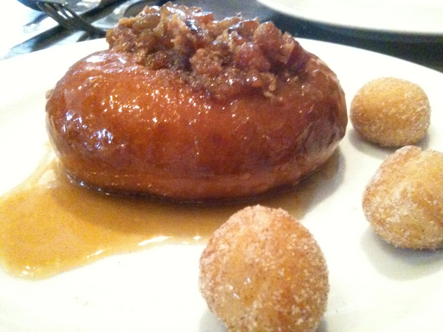 Bacon butterscotch donut, Nightwood