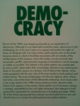 "Democracy placard, ""This Will Have Been: Art, Love & Politics of the 1980s,"" Museum of Contemporary Art, Chicago"