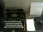 Kerouac's typewriter and small notebooks, Museum of Letters and Manuscripts, Paris