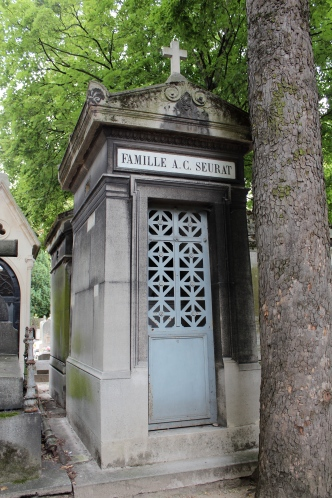 Seurat family crypt, final resting place of Georges-Pierre Seurat, post-Impressionist painter