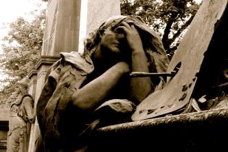 Stalwart and sorrowful, Père-Lachaise, Paris