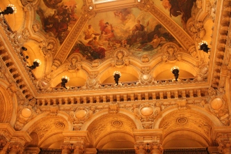 Detail of the ceiling in the Grand Foyer. Wish I'd tried to take one of the whole thing...
