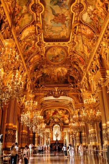 The Grand Foyer, reminiscent of the Hall of Mirrors at Château Versailles.