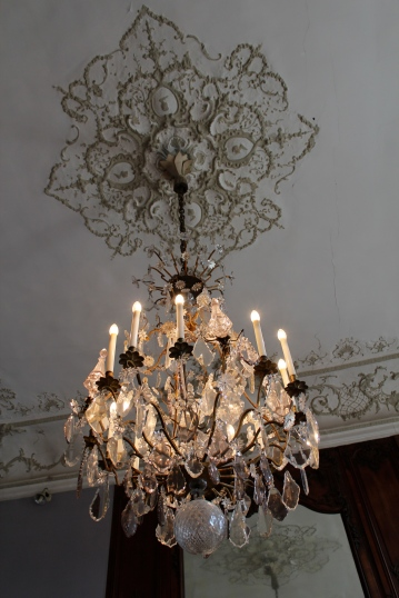 Medallion and chandelier detail, Musee Rodin, Paris