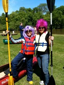 Des Plaines River Kayak Marathon, wigs, May 2010