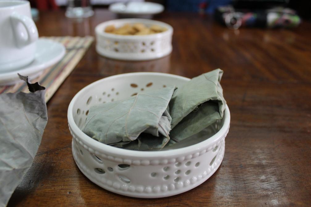 Bundles of pili panutsa from Sorsogon, Bicol, Philippines