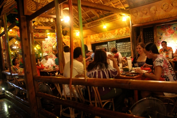 Warm home ambience. KaLui Restaurant, Puerto Princesa, Palawan, Philippines