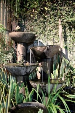 Courtyard fountains, KaLui Restaurant, Puerto Princesa, Palawan, Philippines