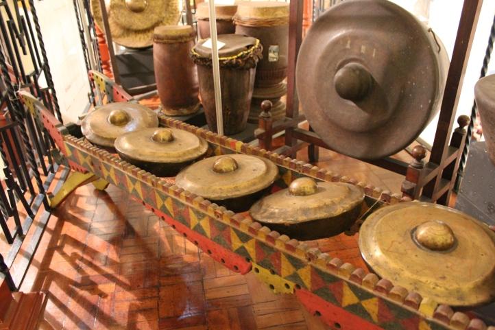 Kulintang brass gong ensemble, University of Santo Tomas museum, Manila, Philippines