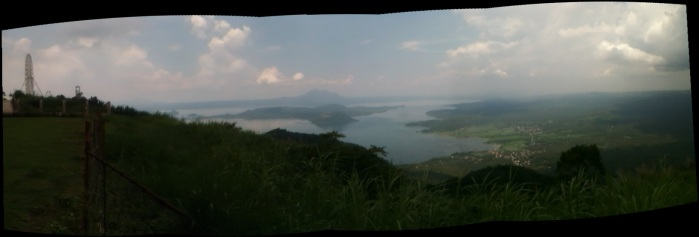 Taal Volcano and Lake panoramic view, ferris wheel, Philippines