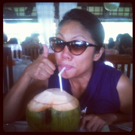Buko (coconut) juice fresh from the husk, Puerto Princesa, Palawan