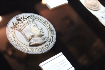 King Philip Medallion (after whom the islands were named by Spain), University of Santo Tomas Museum, Manila, Philippines
