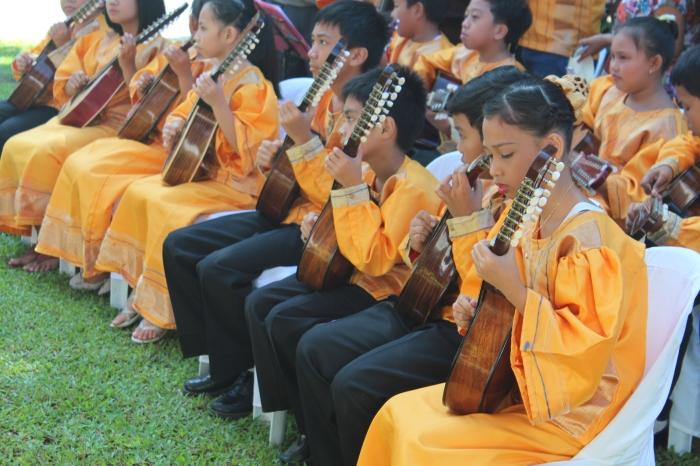 Young rondalla musicians, Calamba, Philippines