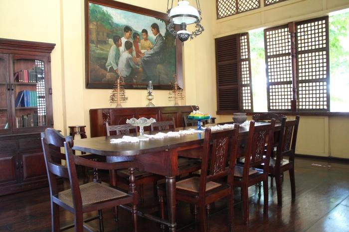 Formal dining room, Dr. Jose Rizal's childhood home, Calamba, Laguna