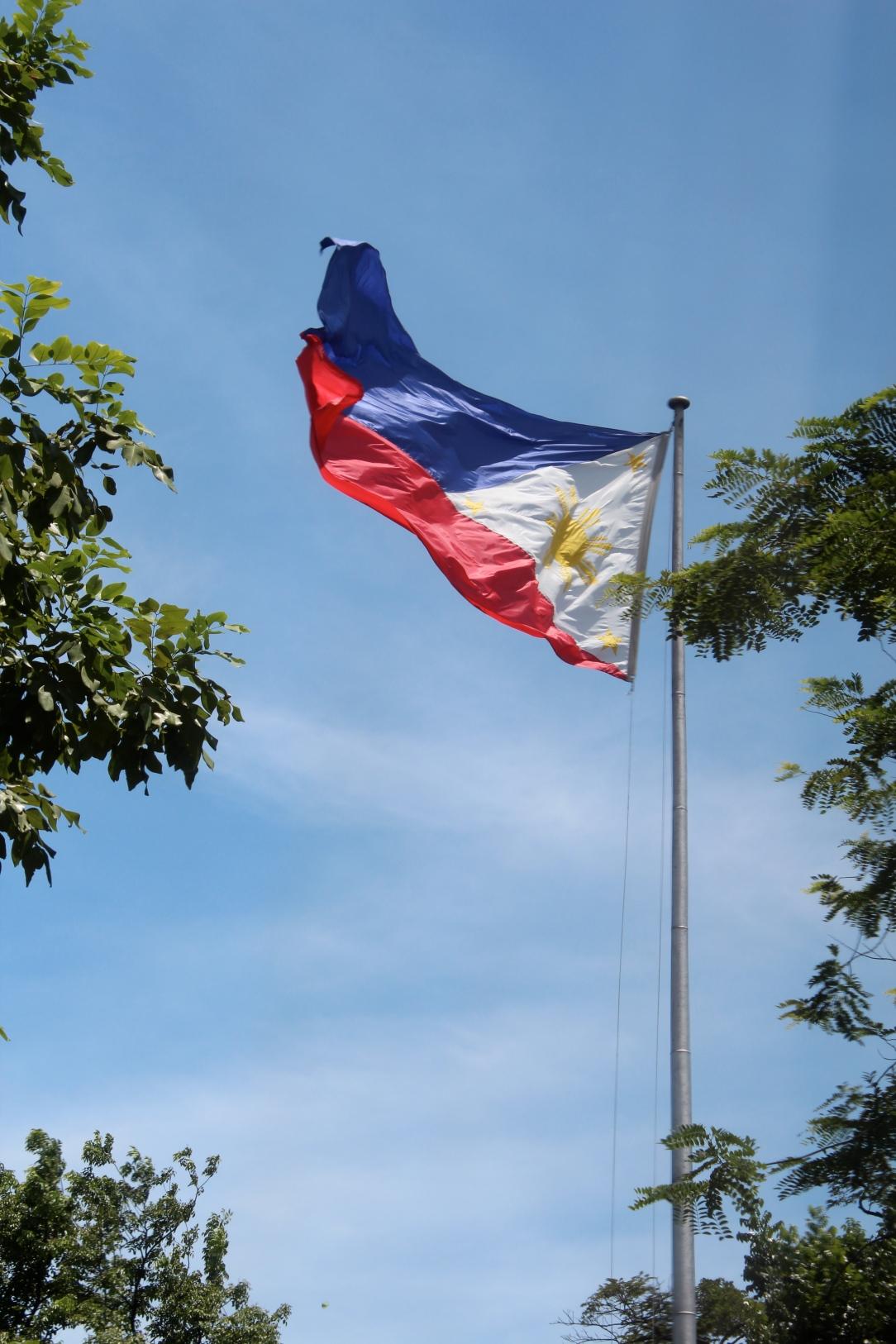 Philippines flag, Malacanan Palace, Manila