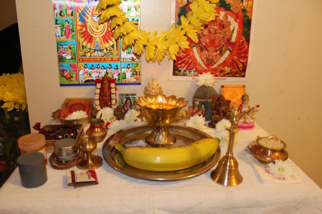 Diwali altar.