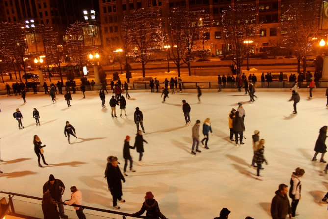 Ice skating rink, Millennium Park, Chicago