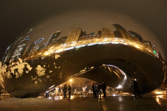 """Cloud Gate"" by Anish Kapoor, Millennium Park, Chicago"