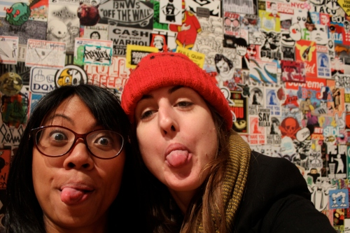 Sticker street art and silliness, Chicago Cultural Center
