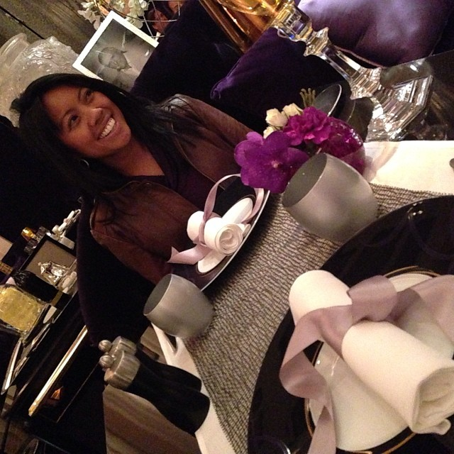 Enjoying the dining room at Joel Robuchon. Photo by Rosemary Nickel, Motivating Other Moms.