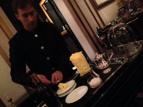 Hand-churned butter from France. Joel Robuchon. Photo by Rosemary Nickel, Motivating Other Moms.