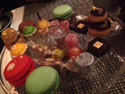 Assorted joys from the dessert cart, Joel Robuchon. Photo by Rosemary Nickel, Motivating Other Moms.