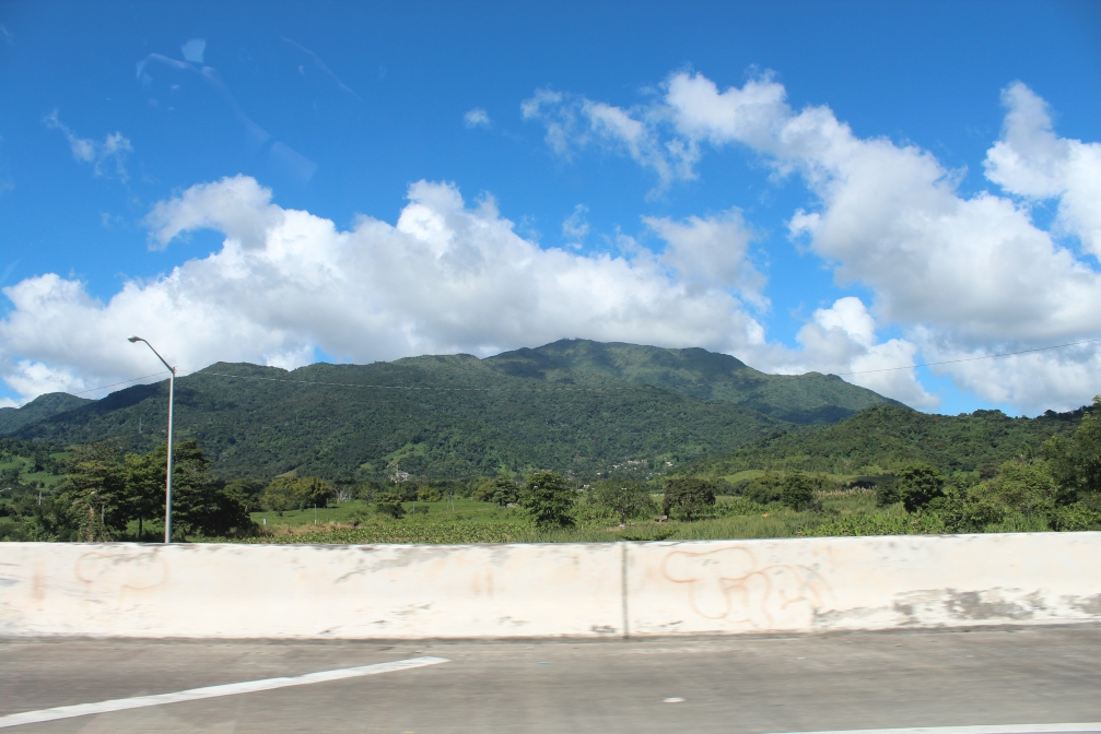 Mountains off Highway 53 south from Fajardo, Puerto Rico