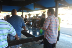 Gamblers place their bets, El Rancho Original, Guavate, Cayey