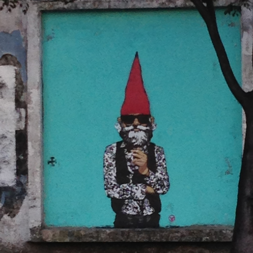 Hipster gnome street art, San Juan, Puerto Rico. Courtesy of NBR.
