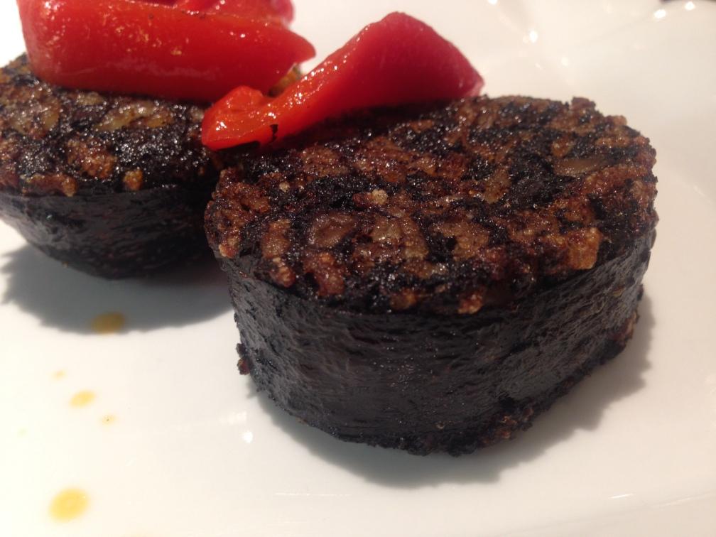 Morcilla (blood sausage), Casa Ojeda Restaurante, Burgos, Spain.